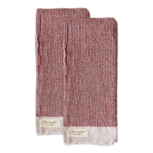 Redwood Washed Waffle Dishtowel Set/2