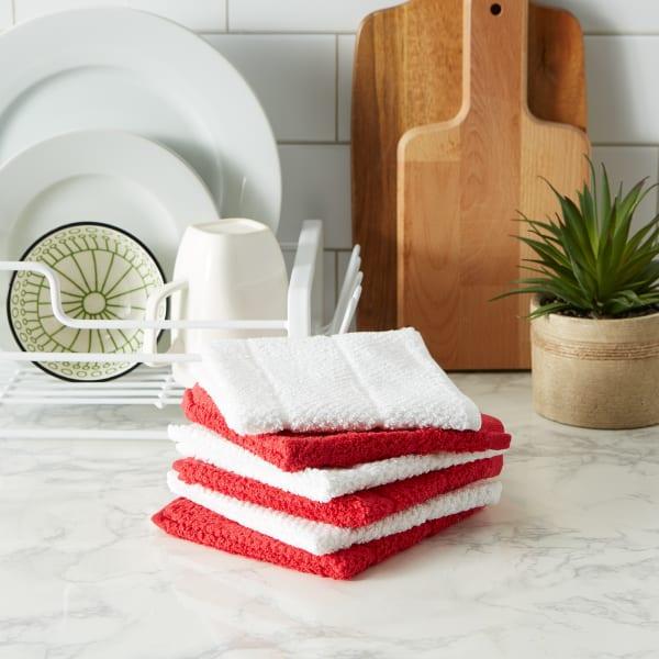 Tango Red Basic Chef Terry Dishcloth (Set of 6)