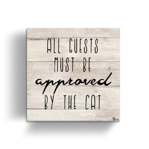 Approval Beige Canvas Pet Wall Art