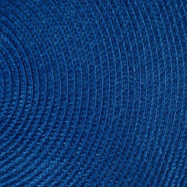 Nautical Blue Round Polypropylene Woven Placemat (Set of 6)
