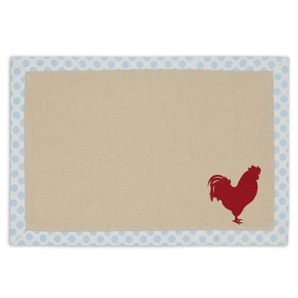 Placemat Red Rooster Printed(Set of 4)