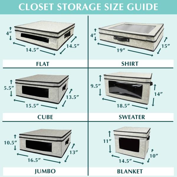 Closet Storage Jumbo Damask