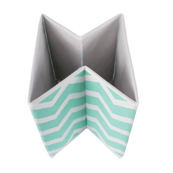 Nonwoven Polyester Cube Chevron Aqua Square 11x11x11 Set/2