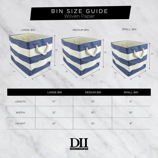 Paper Bin Checkers Aqua Rectangle Large 17x12x12
