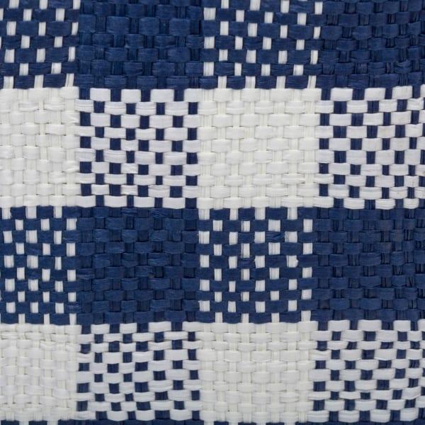 Paper Bin Checkers Navy Round Medium 13.75x13.75x17