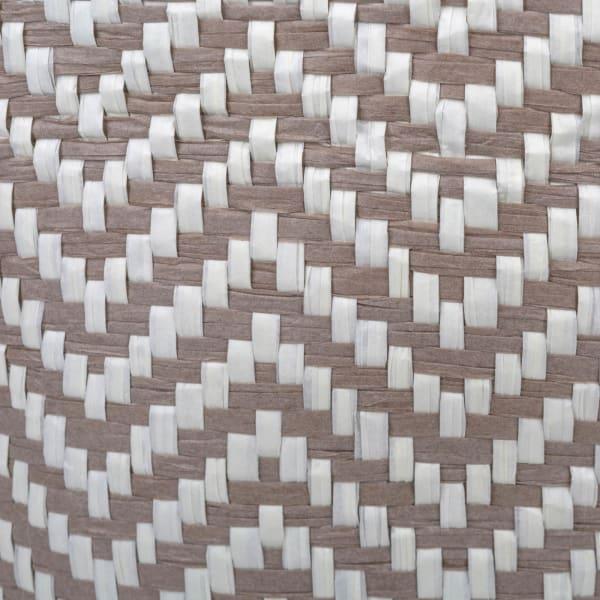 Paper Bin Chevron Stone Round Medium 13.75x13.75x17
