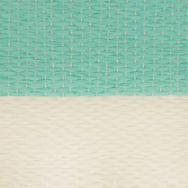 Paper Bin Stripe Aqua Rectangle Medium 15x10x12