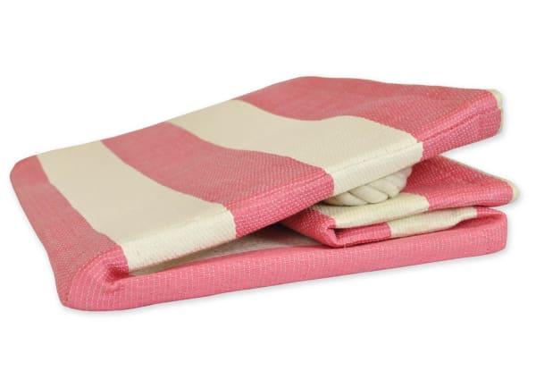 Paper Bin Stripe Pink Rectangle Medium 15x10x12