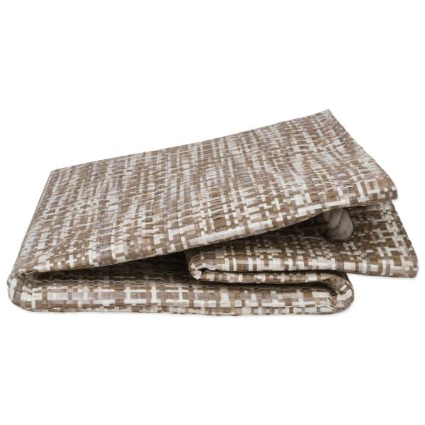 Paper Bin Tweed Stone Rectangle Large 17x12x12