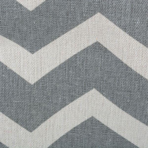 Polyester Bin Chevron Gray Round Medium 12x15x15