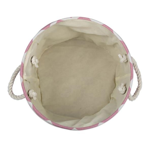 Polyester Bin Chevron Rose Round Medium 12x15x15