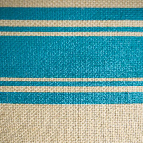 Burlap Bin Border Teal Rectangle Medium 16x10x12