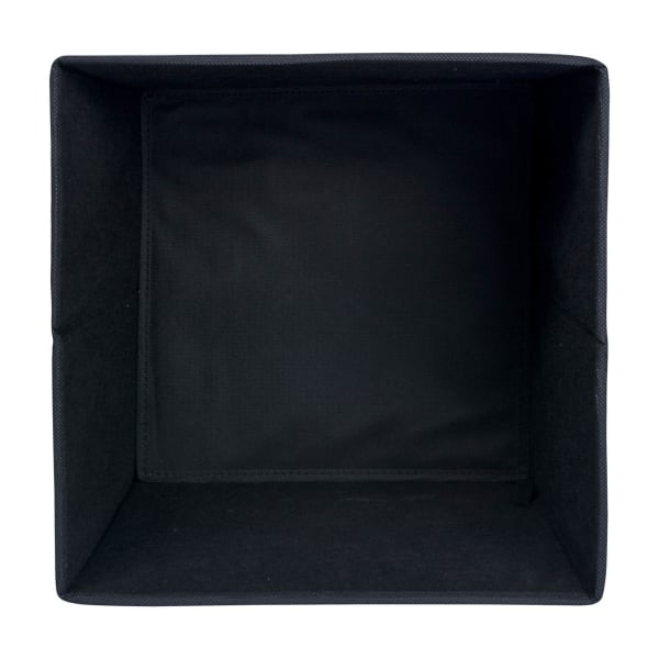 Nonwoven PP Cube Solid Black Square 11x11x11 Set/2