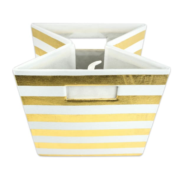 Polyester Cube Stripe Gold Square 11x11x11