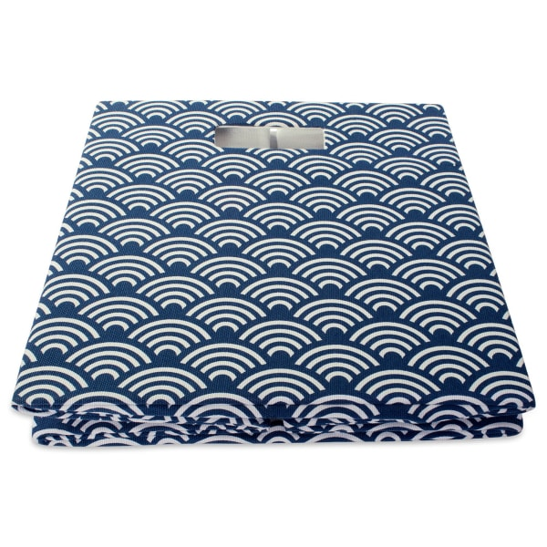 Polyester Cube Waves Nautical Blue Square 11x11x11