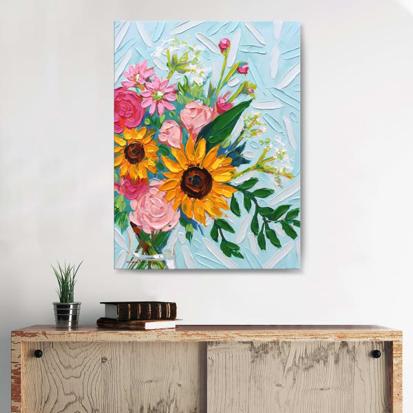Spring Bouquet Multicolored Canvas Wall Art