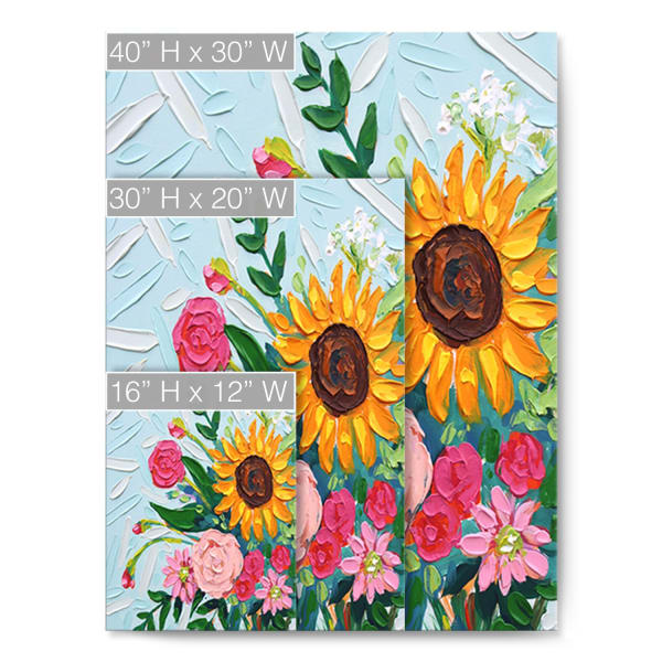 Summer Bouquet Multicolored Canvas Wall Art