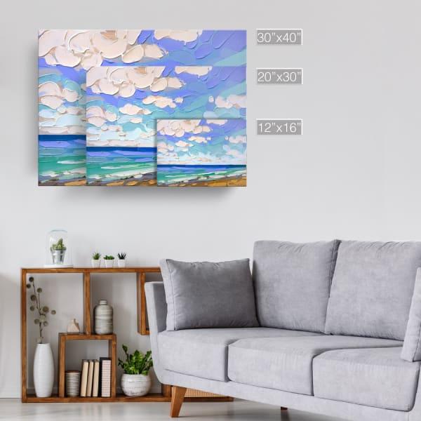 Azul Shores Blue Canvas Wall Art