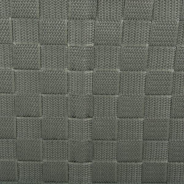 Nylon Bin Basketweave Olive Trapezoid 13x15x5 Set of 2