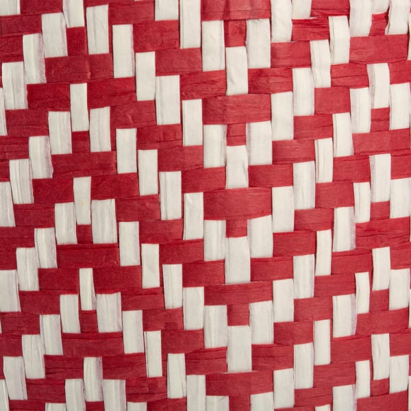 Paper Bin Chevron Rust Rectangle Medium 15x10x12