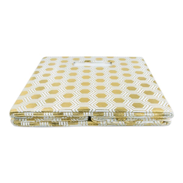 Polyester Cube Honeycomb Gold Square 13x13x13