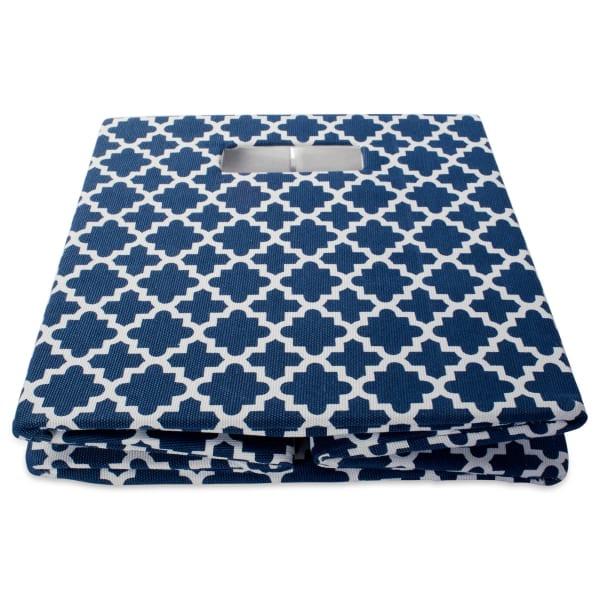 Polyester Cube Lattice Nautical Blue Square 13x13x13
