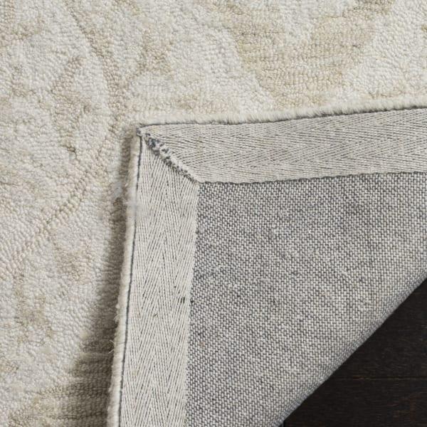 Essence 210 5' X 5' Round Gray Wool Rug