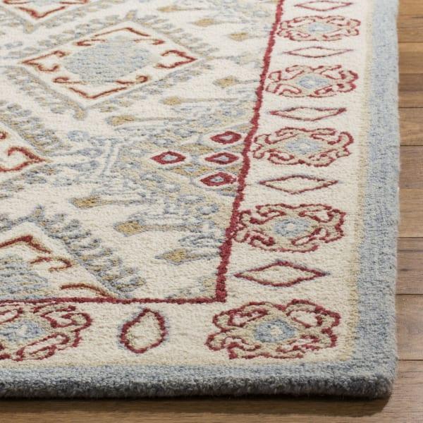 Ivory Wool Rug 4' x 6'