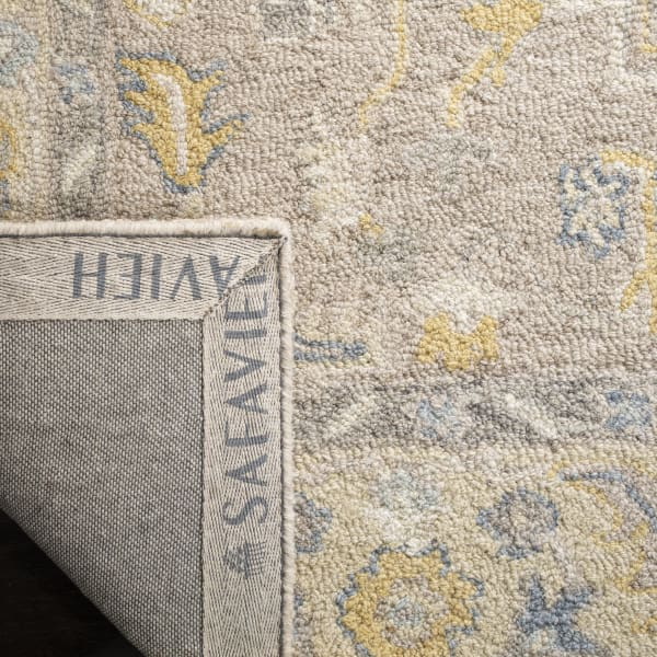 Square Ivory Wool Rug 3' x 5'