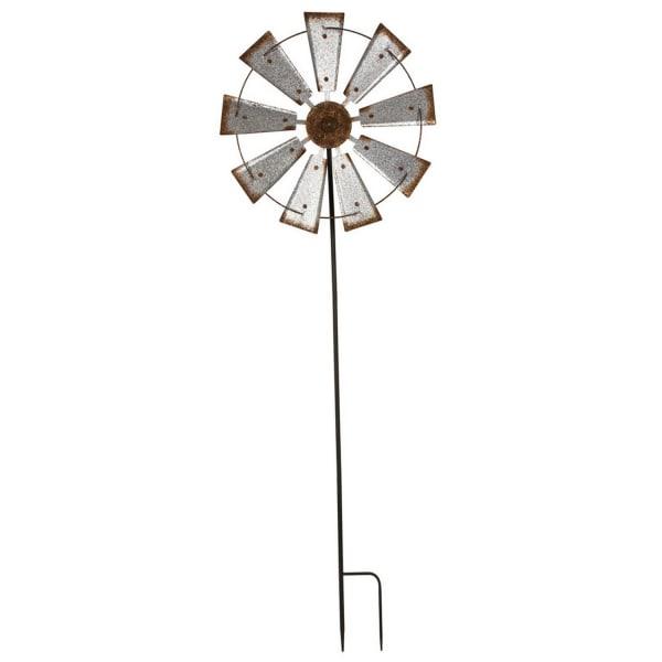 Farmhouse Wind Spinner Yard Stake