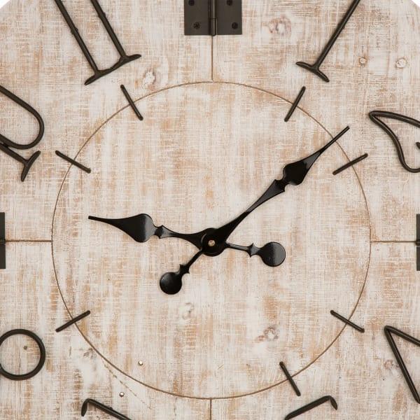 Oversized Farmhouse Wooden Wall Clock
