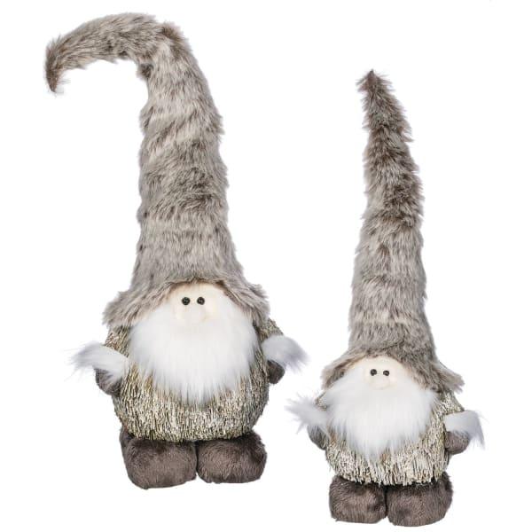 Faux Fur Gnome Family Set of 2