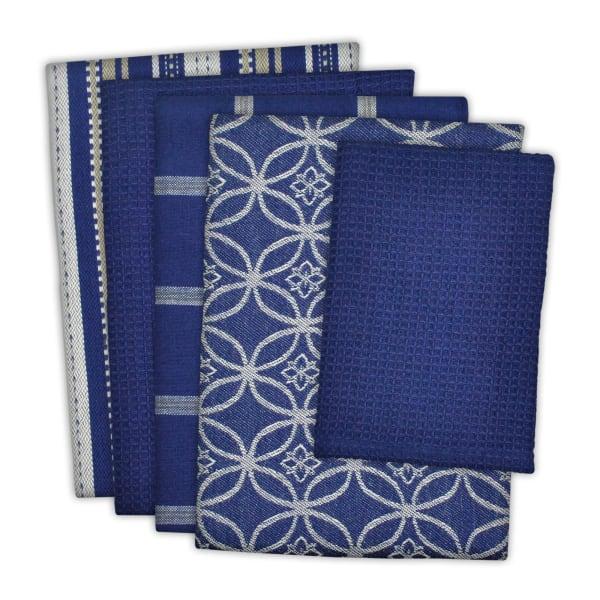 Blue Dishtowel & Dishcloth Assorted Set