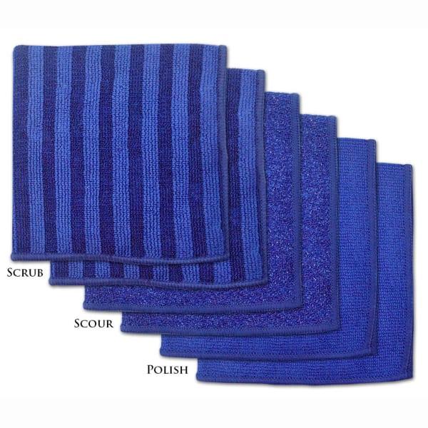 Blue Microfiber Scrub Set