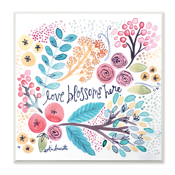 Love Blossoms Small Wall Plaque