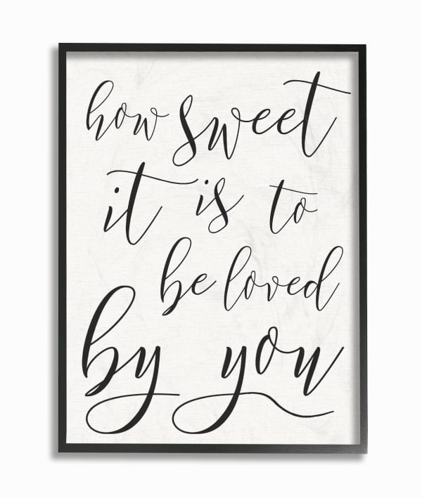 Loved Framed Giclee Texturized Wall Art