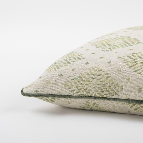 Woven Diamond Lime Pillow Cover