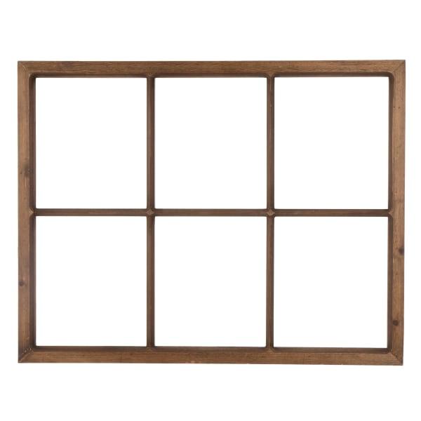 Brown Window Frame Wall Decor