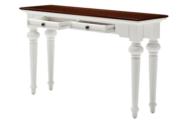 Provence White & Natural Console Table