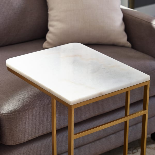 Marble & Gold C-Table