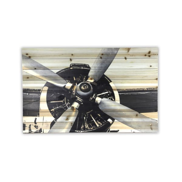 Plane Propeller Print on Wood