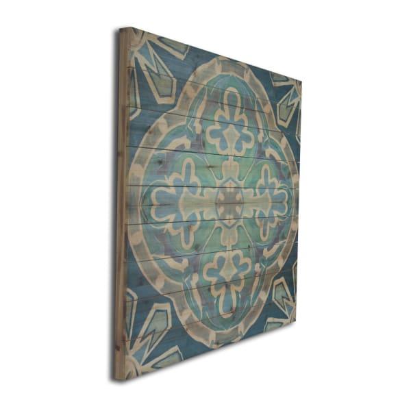 Blue Medallion Wooden Wall Art