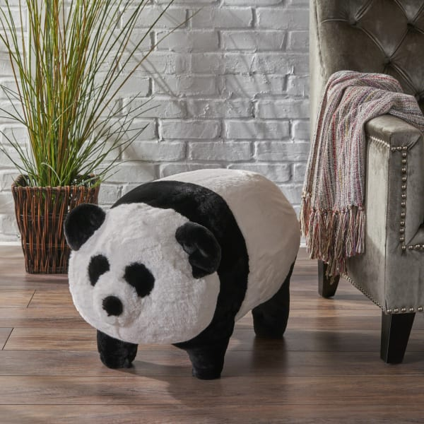 Kids Panda Ottoman