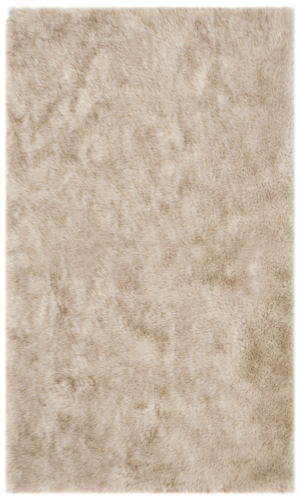 Emma Tan Faux Sheepskin 3'x5' Rug
