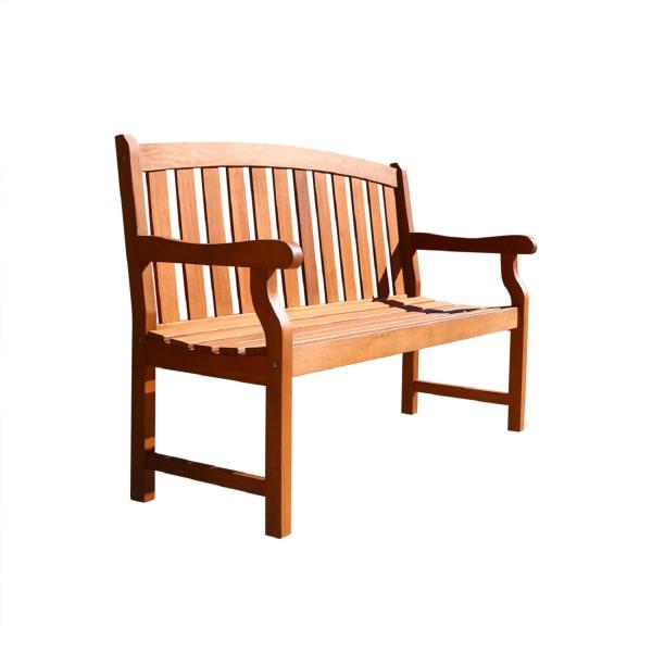 Malibu Brown 4' Wood Marley Garden Bench