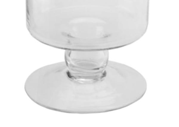 Glass Cylindrical Jar with Finial Topped Lid