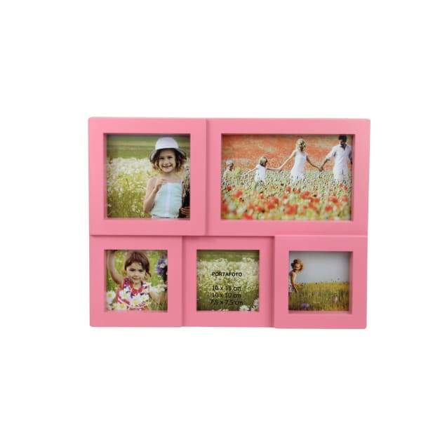 Pink Photo Collage Frame