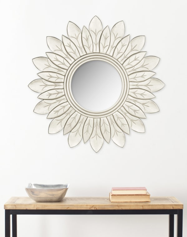 Brandon Pewter Wood & Glass Mirror
