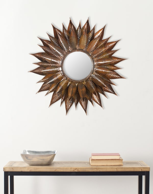 Olivia Copper Iron & Glass Mirror