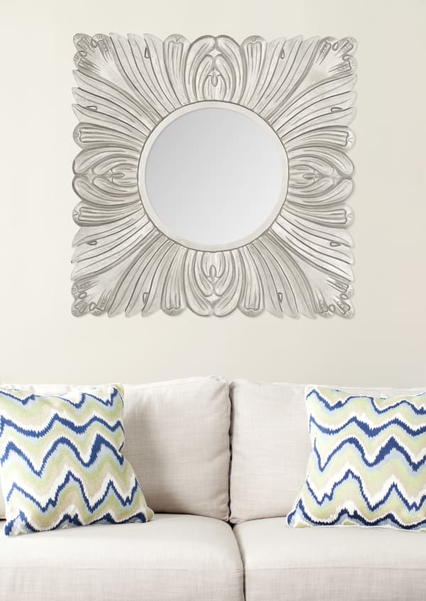 Danielle Pewter Wood & Glass Mirror
